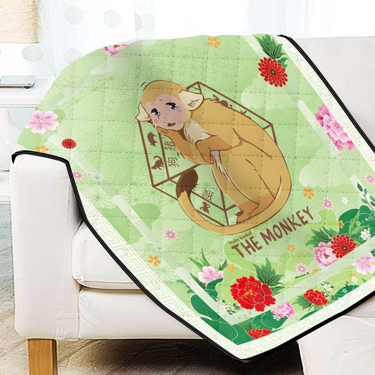Ritsu The Monkey Quilt Blanket Official Merch FDM3009 Twin Official Otaku Treat Merch