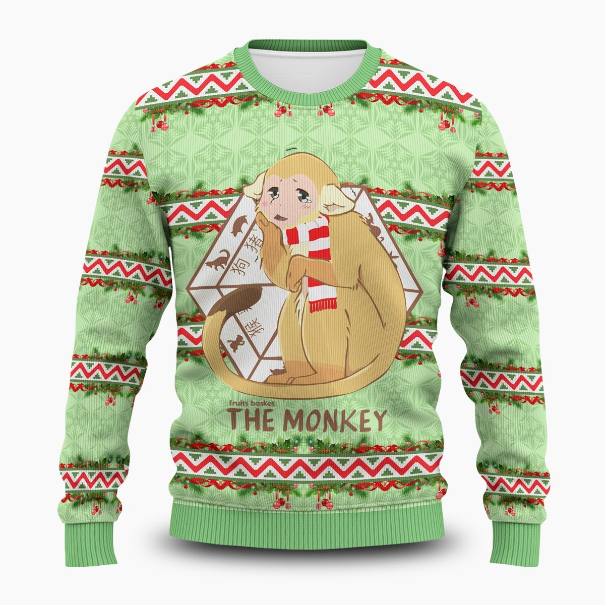 Ritsu The Monkey Unisex Wool Sweater FDM0310 S Official Otaku Treat Merch