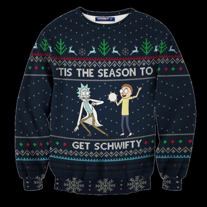 Schwifty Christmas Unisex Wool Sweater FDM0310 S Official Otaku Treat Merch