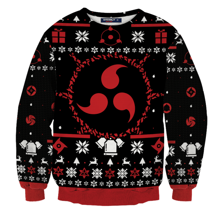 Sharingan Christmas Unisex Wool Sweater FDM0310 S Official Otaku Treat Merch