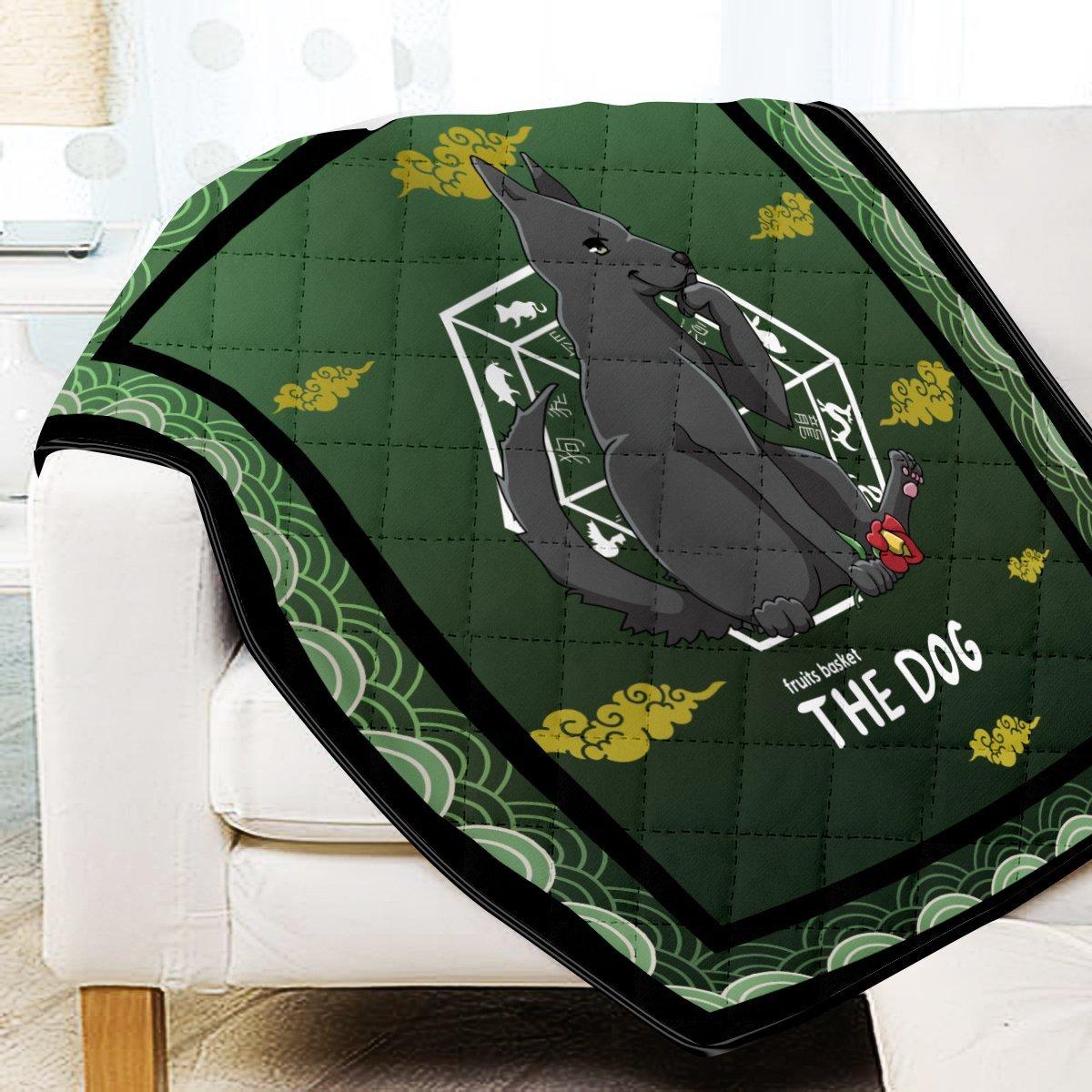 Shigure the Dog Quilt Blanket Official Merch FDM3009 Twin Official Otaku Treat Merch