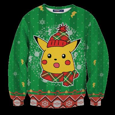 Shocked Pikachu Unisex Wool Sweater FDM0310 S Official Otaku Treat Merch