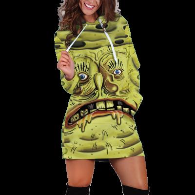 Snotbob Squarepants Hoodie Dress Official Merch FDM3009 XS Official Otaku Treat Merch