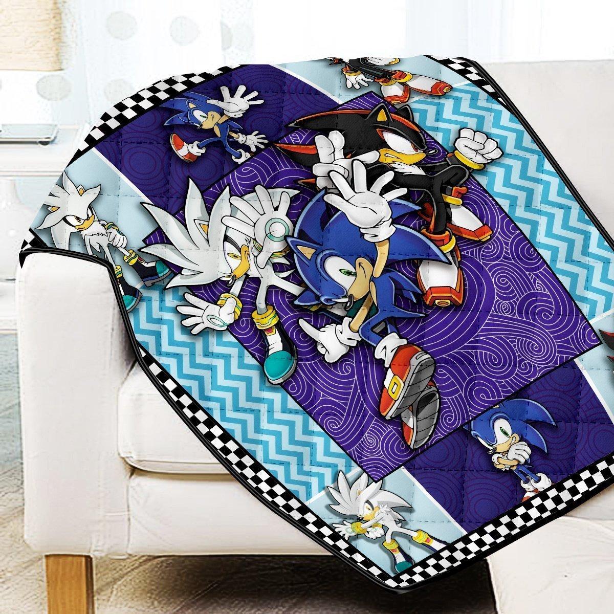 Sonic Trio Quilt Blanket Official Merch FDM3009 Twin Official Otaku Treat Merch