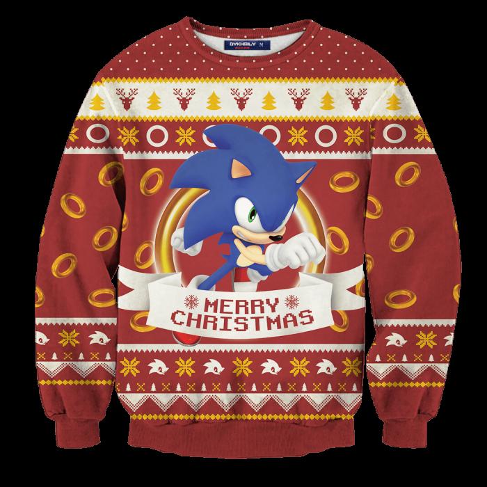 Super Sonic Christmas Unisex Wool Sweater FDM0310 S Official Otaku Treat Merch