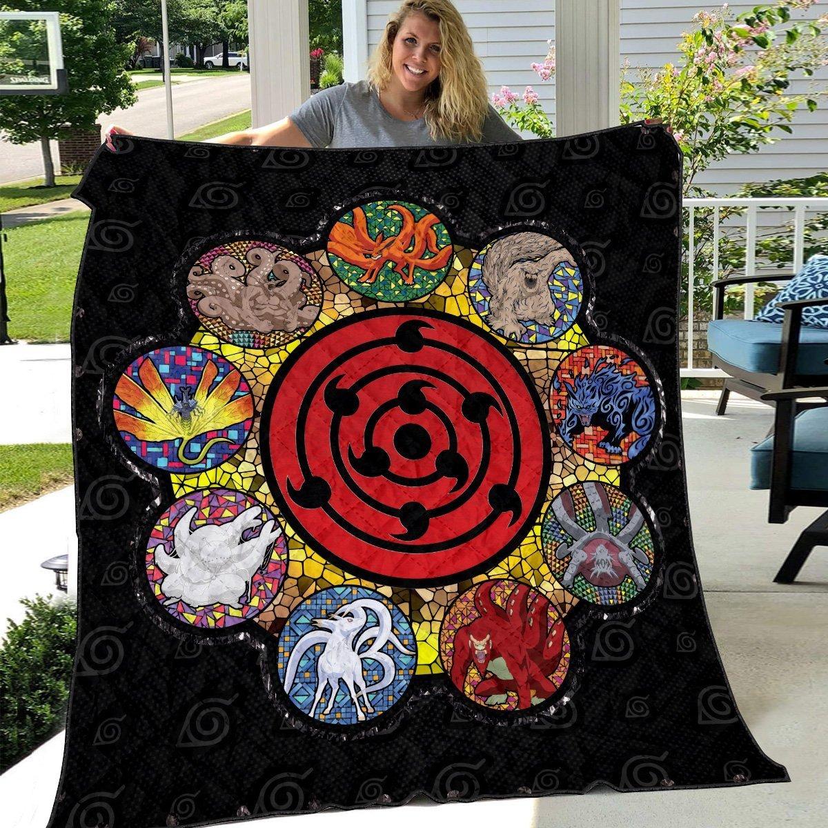 tailed beast quilt blanket 239262 - Otaku Treat