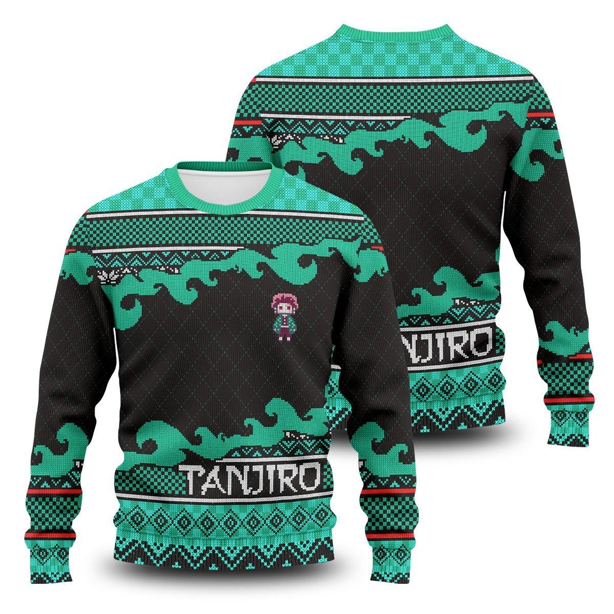 Tanjiro Christmas Unisex Wool Sweater FDM0310 S Official Otaku Treat Merch