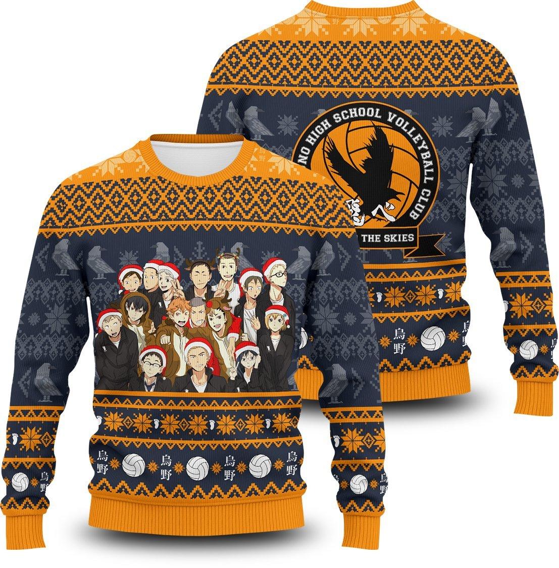 Team Crow Unisex Wool Sweater FDM0310 S Official Otaku Treat Merch