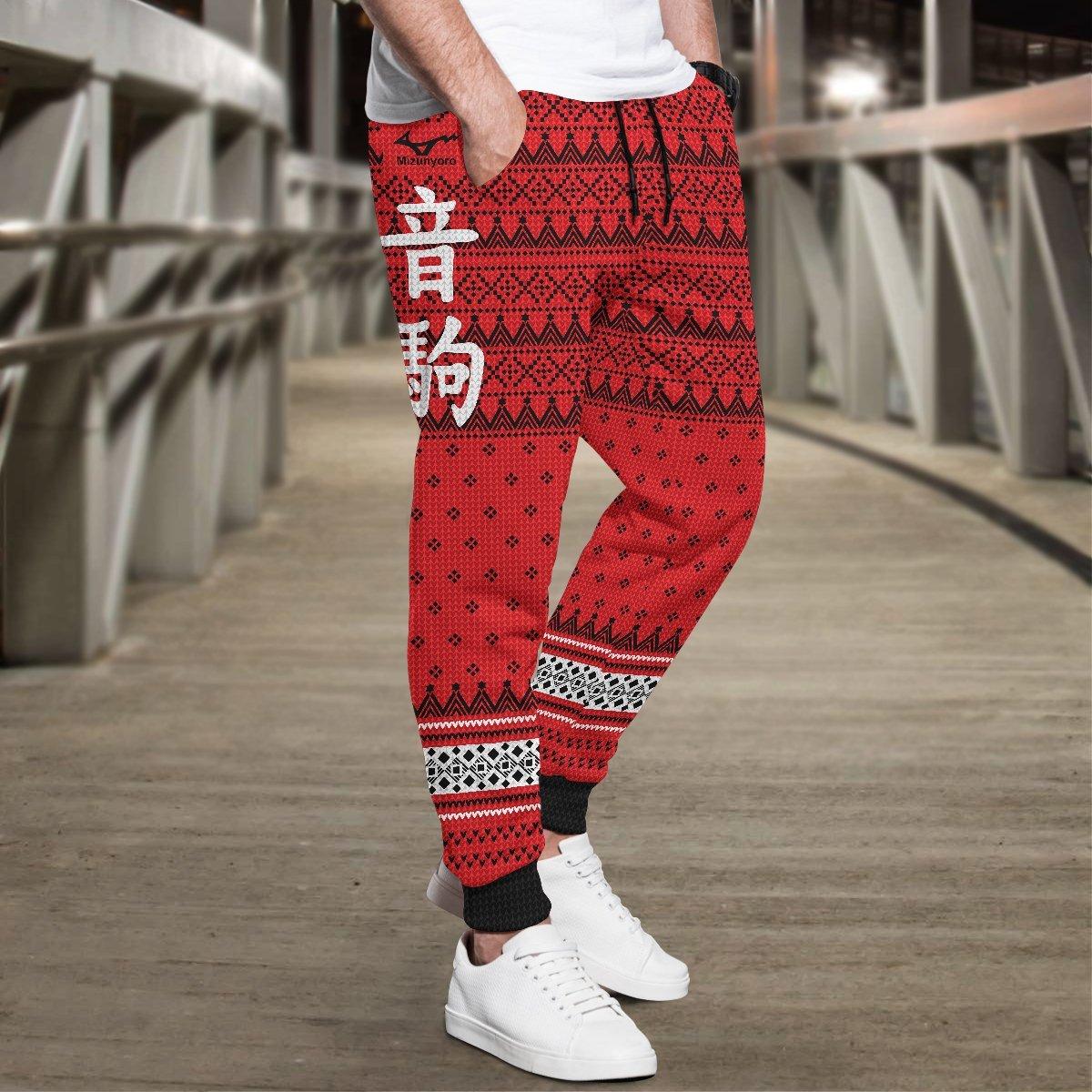 team nekoma christmas jogger pants 300923 - Otaku Treat