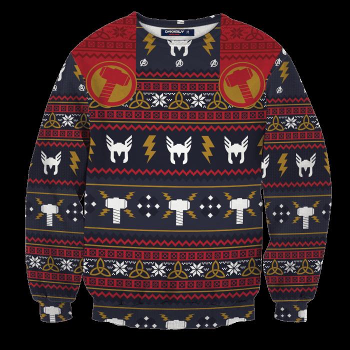 Thunder God Unisex Wool Sweater FDM0310 S Official Otaku Treat Merch