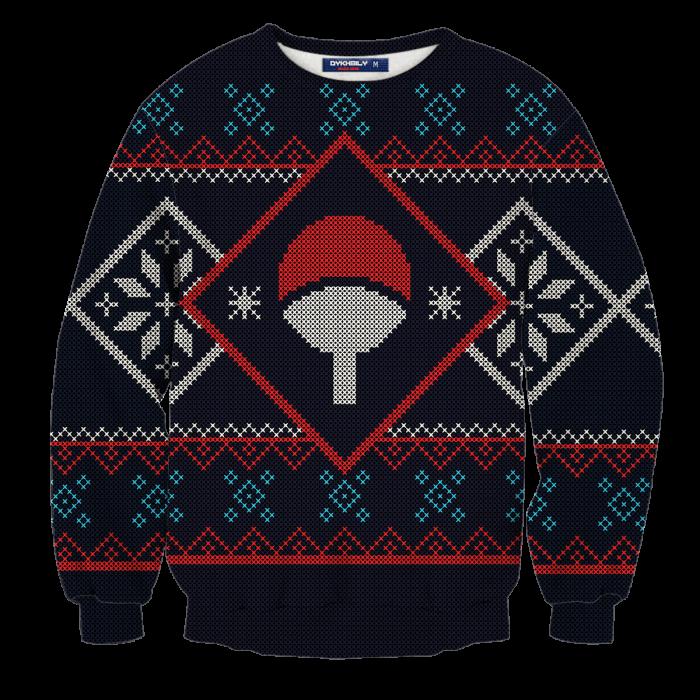 Uchiha Clan Unisex Wool Sweater FDM0310 S Official Otaku Treat Merch