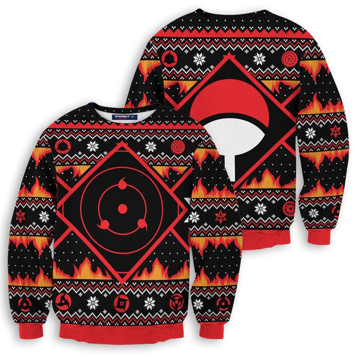 Uchiha Kekkei Genkai Unisex Wool Sweater FDM0310 S Official Otaku Treat Merch