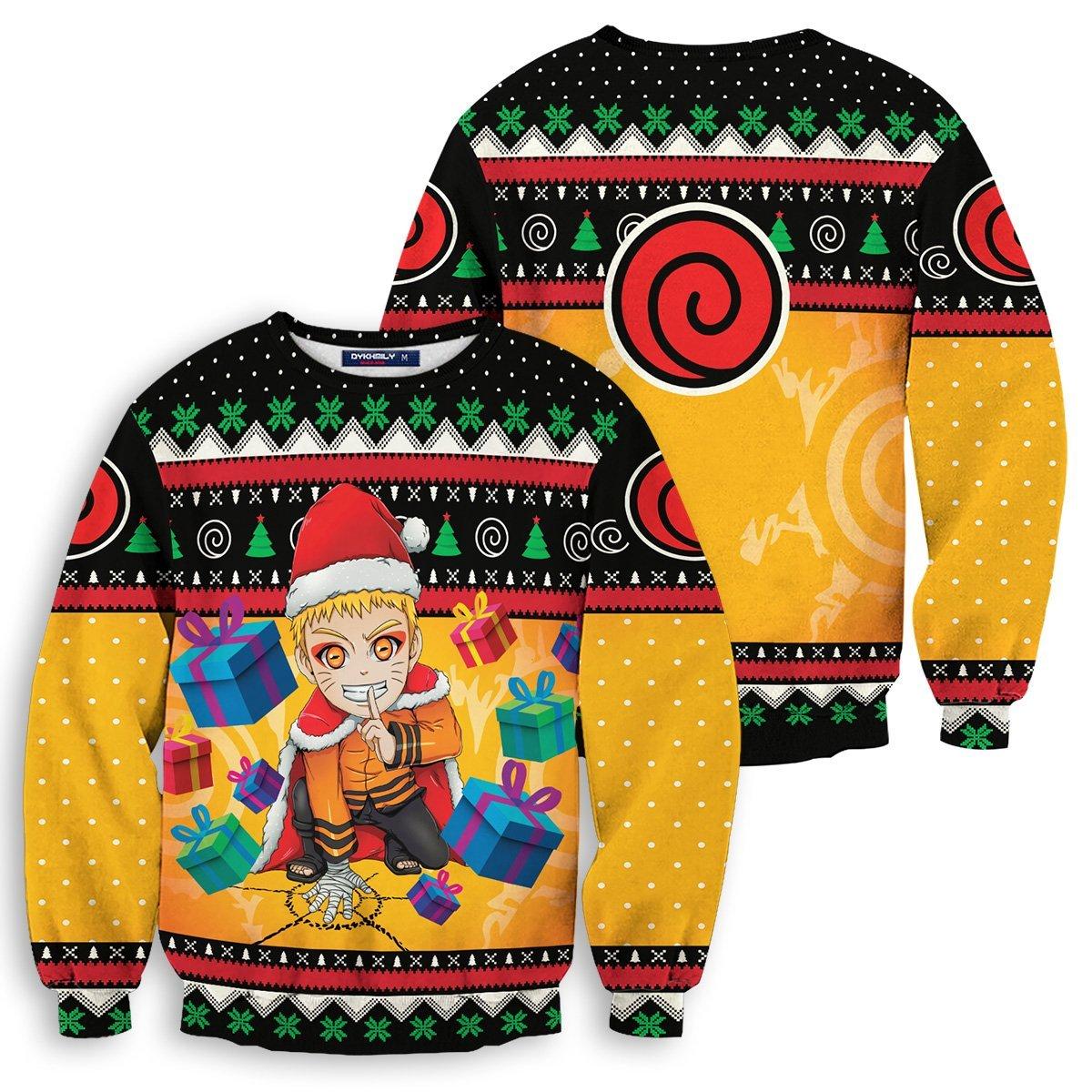 Uzumaki Holiday Way Unisex Wool Sweater FDM0310 S Official Otaku Treat Merch