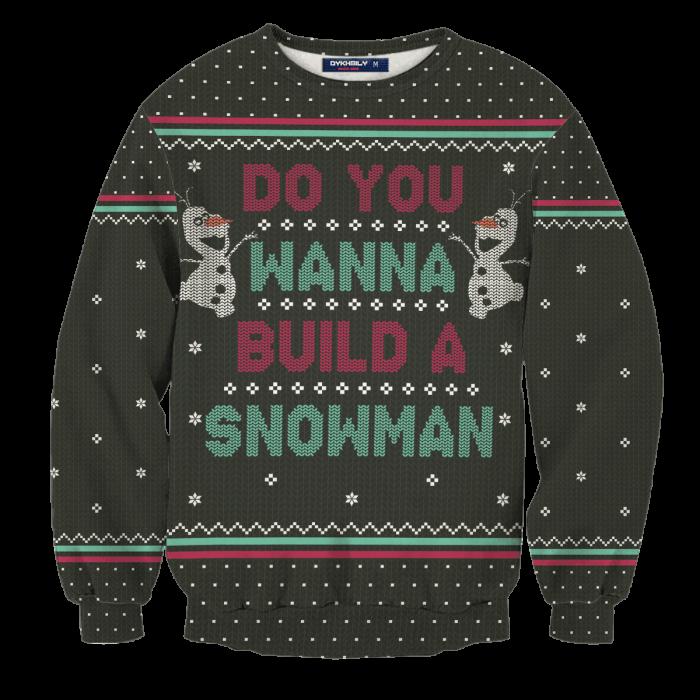 Wanna Build A Snowman Unisex Wool Sweater FDM0310 S Official Otaku Treat Merch