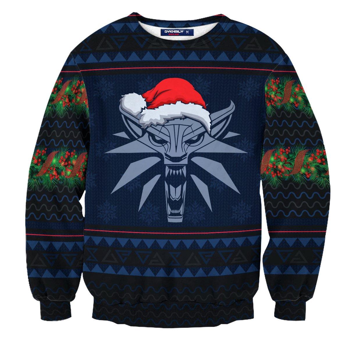 Witcher Geralt Christmas Unisex Wool Sweater FDM0310 S Official Otaku Treat Merch